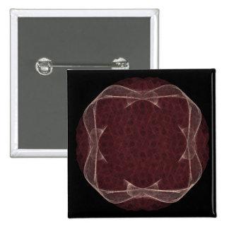 Red Ribbon Fractal Art Design Pins