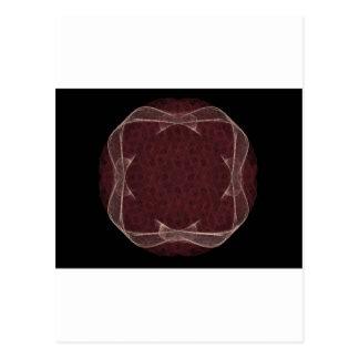 Red Ribbon Fractal Art Design Postcard