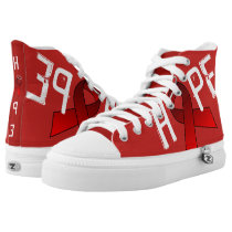 RED RIBBON HIGH TOP ZIPZ