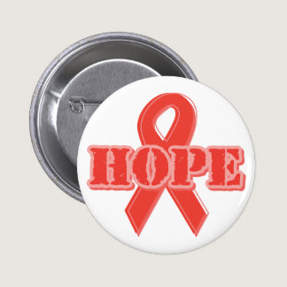 Red Ribbon - Hope Button