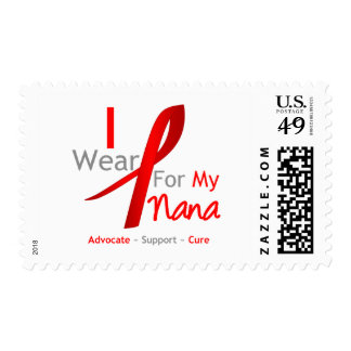 Red Ribbon I Wear For My Nana Postage Stamps
