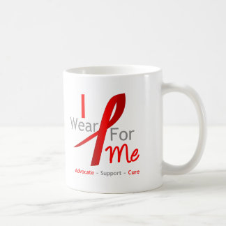 Red Ribbon I Wear Red For Me Coffee Mug