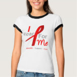Red Ribbon I Wear Red For Me Tshirt