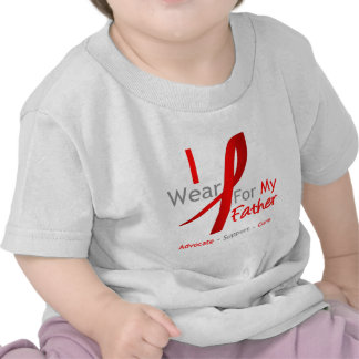 Red Ribbon I Wear Red For My Father Tee Shirts