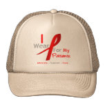 Red Ribbon I Wear Red For My Patients Trucker Hat
