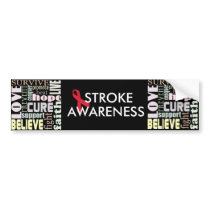 Red Ribbon Inspiration Bumper Sticker