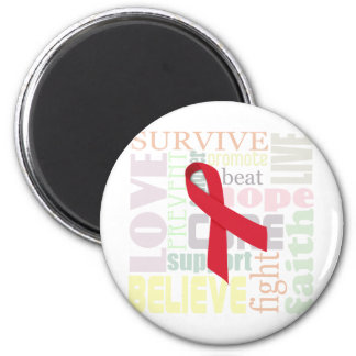 Red Ribbon Inspiration Magnet