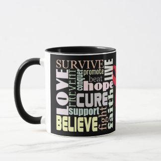 Red Ribbon Inspiration Mug for Stroke, AIDS