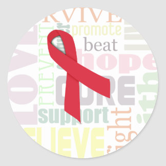 Red Ribbon Inspiration Stickers for Stroke, AIDS