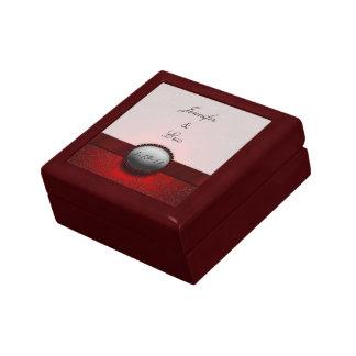 Red Ribbon Keepsake Wedding Box Gift Box