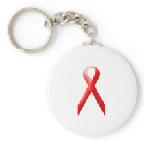 Red Ribbon Keychain