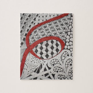 RED RIBBON LETTERING ARTISTRY PUZZLE