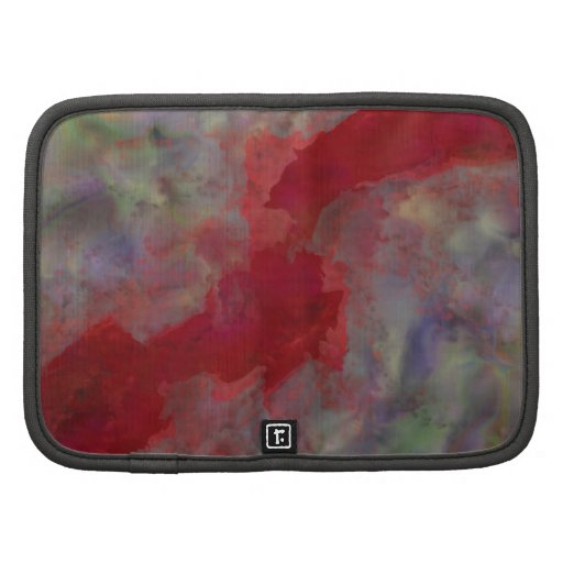 Red Ribbon of Fate Abstract Impressionism Folio Planners