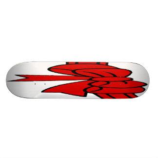 Red Ribbon of Love, Bow,White Back Skateboard Deck