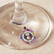 Red Ribbon Penguin Wine Charm