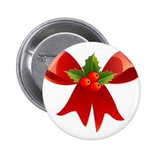 Red Ribbon Pinback Button