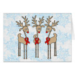 Red Ribbon Reindeer - AIDS & HIV Card
