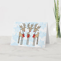 Red Ribbon Reindeer - AIDS & HIV Holiday Card