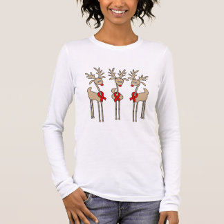 Red Ribbon Reindeer - AIDS & HIV Long Sleeve T-Shirt