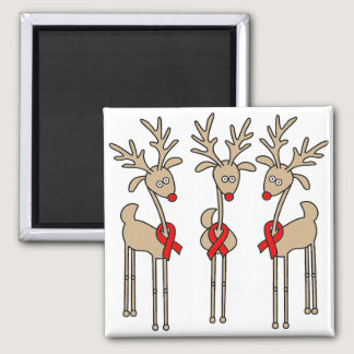 Red Ribbon Reindeer - AIDS & HIV Magnet