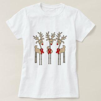 Red Ribbon Reindeer - AIDS & HIV T-Shirt