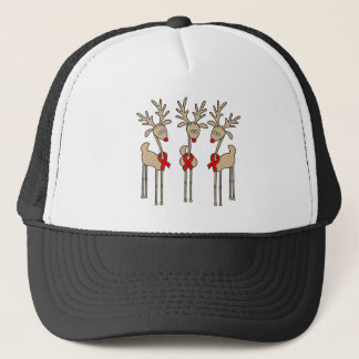 Red Ribbon Reindeer - AIDS & HIV Trucker Hat
