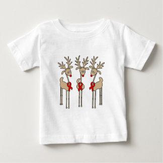Red Ribbon Reindeer (Heart Disease & Stroke) Baby T-Shirt