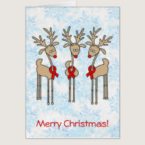 Red Ribbon Reindeer (Heart Disease & Stroke) Card
