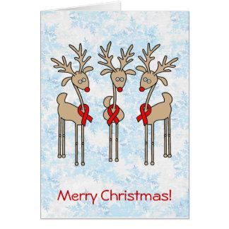 Red Ribbon Reindeer (Heart Disease & Stroke) Card