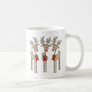 Red Ribbon Reindeer (Heart Disease & Stroke) Coffee Mug