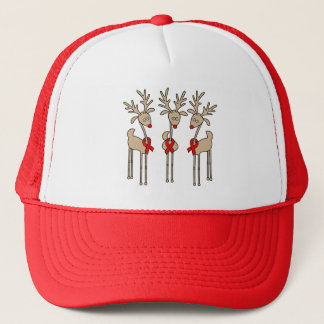 Red Ribbon Reindeer (Heart Disease & Stroke) Trucker Hat