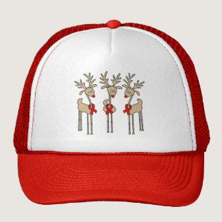 Red Ribbon Reindeer (Heart Disease & Stroke) Trucker Hat