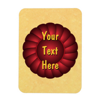 Red Ribbon Rosette to Personalize Magnet