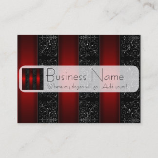 Red Ribbon Stripes Business Card