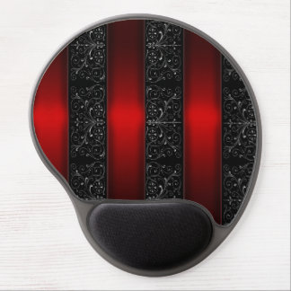 Red Ribbon Stripes Gel Mouse Pad