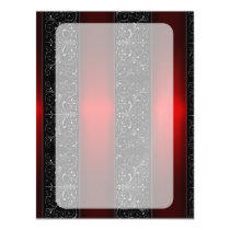 Red Ribbon Stripes Magnetic Invitation