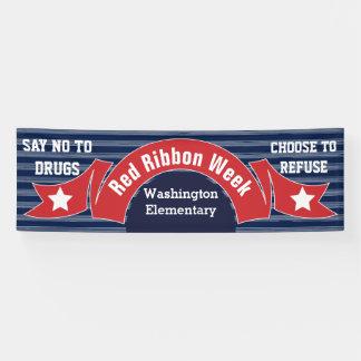 Red Ribbon Week - Drug Free Banner