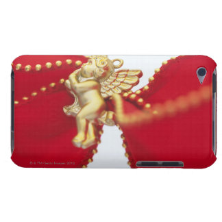 Red Ribbon with Gold Angel, Close Up, iPod Case-Mate Case