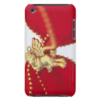Red Ribbon with Gold Angel, Close Up, iPod Touch Covers