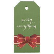 red ribbon wrap christmas Holidays Gift Tag