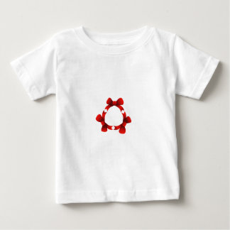 Red ribbons in circle baby T-Shirt