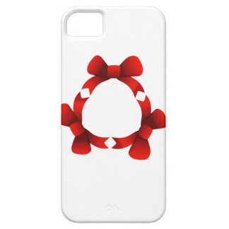 Red ribbons in circle iPhone 5 cover