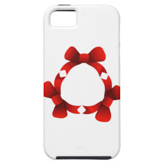 Red ribbons in circle iPhone 5 covers