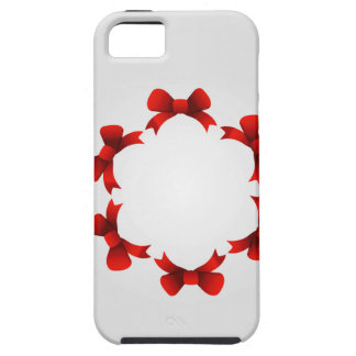 Red ribbons in circle iPhone SE/5/5s case