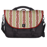 red ribbons laptop commuter bag