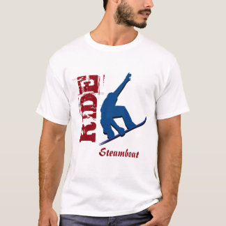 Red Ride Steamboat Snowboard T-Shirt