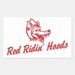 Red Ridin' Hoods Rectangular Sticker