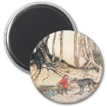 Red Riding Hood 2 Inch Round Magnet