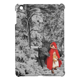 Red Riding Hood and the Wolf (BW) iPad Mini Cases