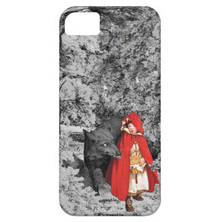 Red Riding Hood and the Wolf (BW) iPhone SE/5/5s Case